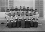Altar boys, Saint Michael's School on College Street, Santa Fe, New Mexico