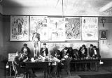 Students in classroom, Saint Michael's School on College Street, Santa Fe, New Mexico