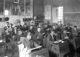 Students in classroom, Saint Michael's College, Santa Fe, New Mexico