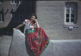 Woman in fiesta outfit, Santa Fe, New Mexico