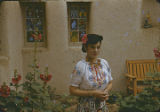 Woman in fiesta costume, Santa Fe, New Mexico