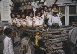 Women in cart during fiesta parade, Santa Fe, New Mexico