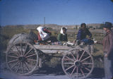 Navajo women in wagon, New Mexico