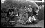 Group of Navajo with Margaret McKittrick (standing third from right)