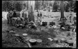Camp cooking, Los Alamos Ranch School, Los Alamos, New Mexico