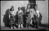 Group at San Juan Pueblo including second from left Eleuterio Suina from Cochiti Pueblo, New Mexico