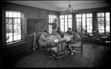 Algebra class in the Arts and Crafts Building, Los Alamos Ranch School, Los Alamos, New Mexico