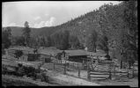 Barns and corral, Stern Ranch, New Mexico