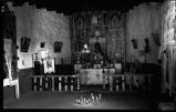 Interior of Santuario de Chimayo, New Mexico