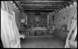 Church interior, Cordova, New Mexico