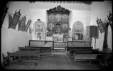 Interior of church, Las Trampas, New Mexico