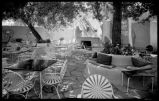 Courtyard of La Fonda Hotel, Santa Fe, New Mexico