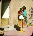 Pueblo woman and child