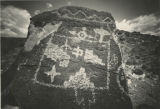 """Petroglyph Rock Near Albuquerque, New Mexico"""