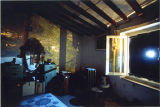 My bedroom, January, 1999, lens photograph of pinhole image in room