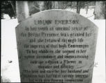 Lidiam Emerson Grave, Sleepy Hollow Cemetery
