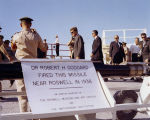 JFK at White Sands with Goddard Rocket - Jun 5, 1963
