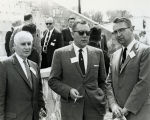 Goddard Exhibit Dedication - Dr. Robert Boyce, Frank Kaufmann, and Dr. Eldred Nelson - 1959
