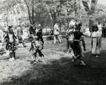 Goddard Exhibit Dedication - Native American Dancers and Guests in Background - 1959