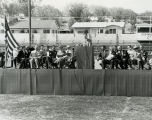 Goddard Exhibit Dedication - Speaker Onstage, Outside - 1959