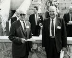 Goddard Exhibit Dedication - Mayor Bert Ballard & Governor John Burroughs - 1959