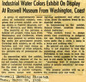 Industrial Water Colors Exhibit on Display at Roswell Museum from Washington, Coast