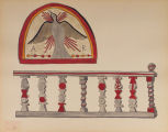 Holy Ghost -  Lunette Altar Rail Chimayo - The Portfolio of Spanish Colonial Design in New Mexico