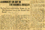 A Comment on Art in the Roswell Museum