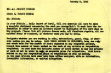 Memo from RV Hunter to All Project Workers, Jan 9, 1942