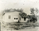 Dr. Goddard Workshop, Roswell, just completed - 1930