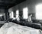 Dr. Goddard's workshop, interior, crew working - 1931