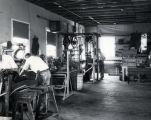 Dr. Goddard workshop, interior, crew working - c. 1932
