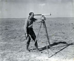 Charles Masur observing rocket flight - Mar 16, 1936