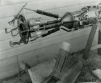 Combustion chamber and nozzle with vane assembly - Jan 1935