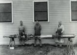 Dr. Goddard's crew with completed rocket - Jan 6, 1939