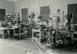 Interior view of expanded Goddard workshop - c. 1941