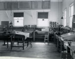 Interior view of Goddard's expanded workshop with his desk - c. 1941-42