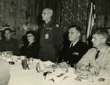 E. Goddard with Military Officials - Jan 21, 1954