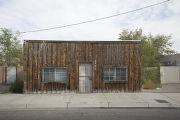 House with wood plank facade