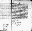 SCRC ID: 3063. Patente for fray Miguel Fernández to join missionary party to Florida, 1696.