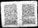 Provisión correspondence by Gaspar de Calderon (escribano) that gives office of factor to Hernando...