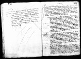 Document by Miguel Lopez de Legazpi (escribano) and Francisco Tello de Sandoval concerning conduct...
