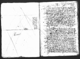 Documents by Cristobal de Heredia (scribe) and Diego Ramirez (testigo) on a interrogatorio of...