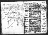 Document by Francisco de Avila (escribano) on the collection of duties paid at Veracruz for slaves...