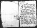 Document by Diego Tristan (escribano de México) that lists escribanos and their arrival in Mexico...