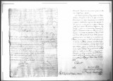 A fragment of a letter written by Luis Bruñon, a soldier of the Regimento de Infanteria de Napoles...