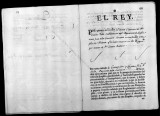 Documents on the royal appointment of Vizente Folch to subteniente de granaderos in the Regimiento...