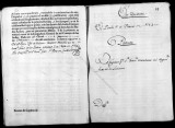Documents on the royal appointment of Francisco Cartabona to teniente de infanteria in the...