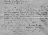 20 Nov 1854 sworn statement re: stolen black mule
