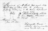 5 June 1853 Lafayette Head receipt to Steck for property turned over (4 different lists)